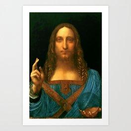 """Leonardo da Vinci """"Salvator Mundi"""" Art Print"""