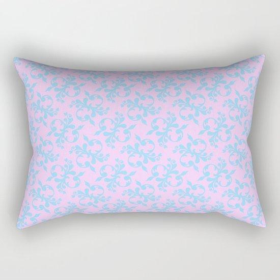 Pattern #10, blue on pink Rectangular Pillow