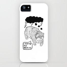 I Hate My Brain iPhone Case