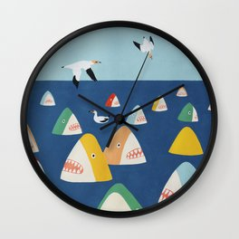 Shark Park Wall Clock