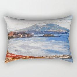 Italy. The Bay of Napoli Rectangular Pillow