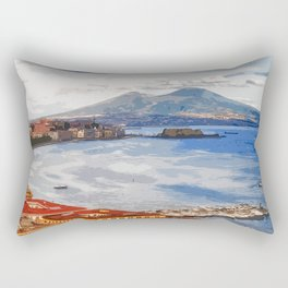 Italy. The Bay of Napoli Rectangular Pillow