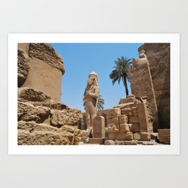 Colossal Statue of Ramses II, Luxor, Egypt Art Print