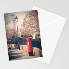 Red Postbox In Spring Stationery Cards