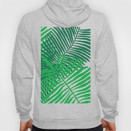 Modern Tropical Palm Leaves Painting black background Hoody