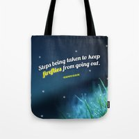 firefly Tote Bags featuring Firefly by CampbellsAdopt