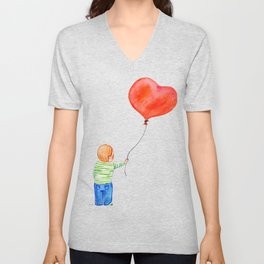 With All my Heart Unisex V-Neck