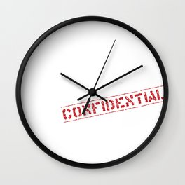 Confidential stamp Wall Clock