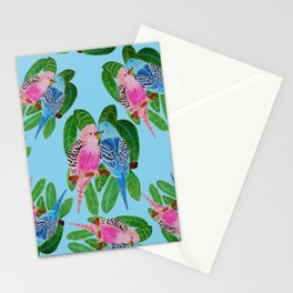 Budgie kiss Stationery Cards