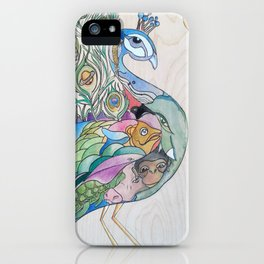 Planetary Peacock iPhone Case