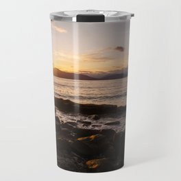 Summer Sunset Over Water Vancouver, British Columbia, Canada Travel Mug
