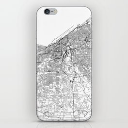 Cleveland White Map iPhone Skin