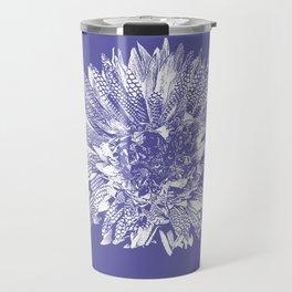 Stamped Wildflower in Lavender Travel Mug