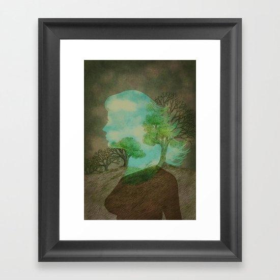 Remember Blue Skies Framed Art Print
