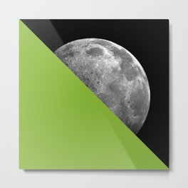 Half Moon Lime Green Metal Print