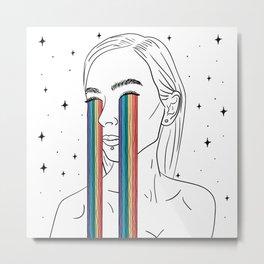 Rainbow tears Metal Print