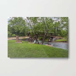Lovework at the Humpback Bridge Metal Print