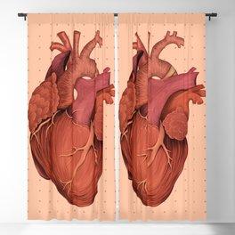 Anatomical Human Heart - Peach/Pink Version Blackout Curtain