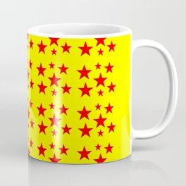 red stars-stars,yellow,night,sky,light, circus,kitsch,rays,hope,pointed Coffee Mug