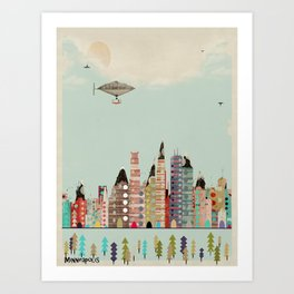 visit minneapolis minnesota Art Print