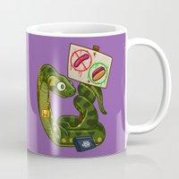 anaconda Mugs featuring Anaconda Buns by Artistic Dyslexia