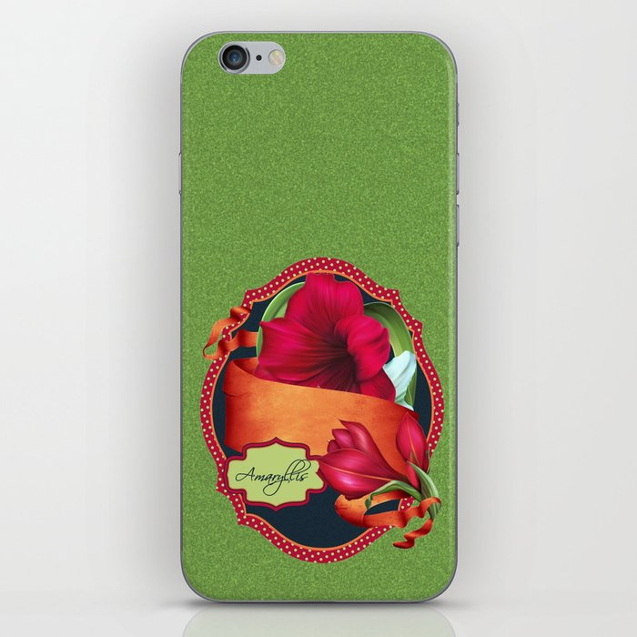 Tropical Amaryllis iPhone Skin
