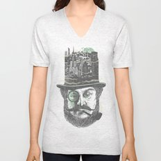 Old man hatten Unisex V-Neck