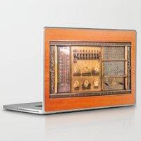 transistor Laptop & iPad Skins featuring Vintage Wall Radio by jculver