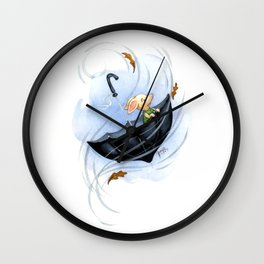 A Blustery Day Wall Clock
