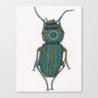 beetle Canvas Prints featuring Beetle by artworkbyemilie
