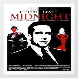 Threat Level Midnight Movie Art Print