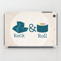 rock and roll iPad Cases featuring Rock&Roll by Natalia Ogneva