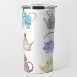 Waterclor Teapot Collection Travel Mug
