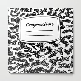 Composition Book   Metal Print