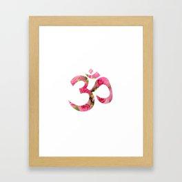 Aum Rose Harmony Om Framed Art Print