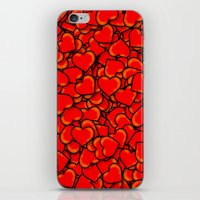 hearts iPhone & iPod Skins featuring Heart by 10813 Apparel