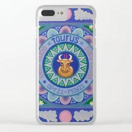 Taurus Mandala Clear iPhone Case