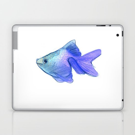 Blue Fishy Laptop & iPad Skin