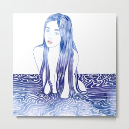 Water Nymph L Metal Print