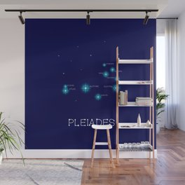 Northern Hemisphere Pleiades Star Formation Wall Mural