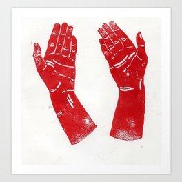 Red Hands Art Print