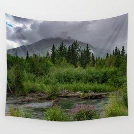 Alaskan Summer Rain Clouds, Kenai_Peninsula Wall Tapestry