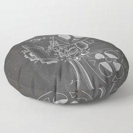 Film Projector Patent - Cinema Art - Black Chalkboard Floor Pillow