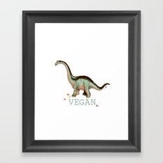 vegan dino: say what??  Framed Art Print