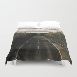 Counting Miles Duvet Cover