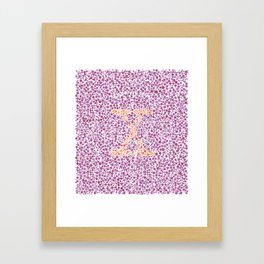 """X"" Eye Test Full Framed Art Print"