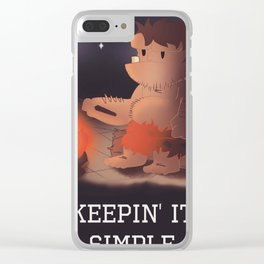 Keepin It Simple Clear iPhone Case