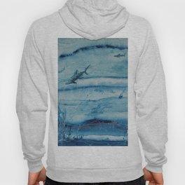 Sharks in deep blue Hoody