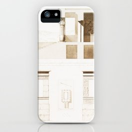 Peripteral Temple of Amenhotep III at Elephantine from Histoire de l'art égyptien (1878) by Émile Pr iPhone Case