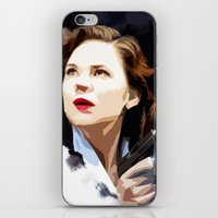 peggy carter iPhone & iPod Skins featuring Peggy Carter by Ms. Givens